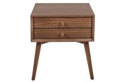 AVERY – Table de chevet rétro en bois 2 tiroirs