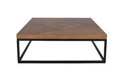 CARY – Table basse carrée en teck et acier