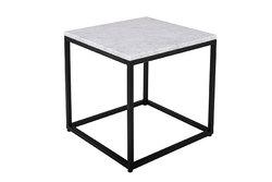 ELLA – Table carrée en marbre et acier