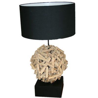 BILLE – Lampe boule en bois
